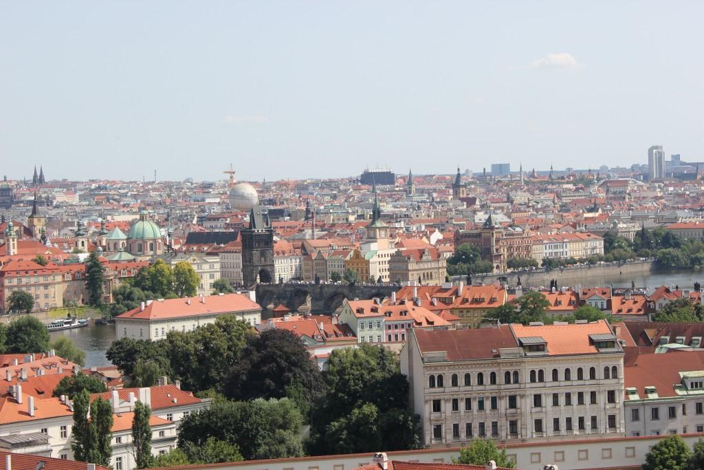 Udsigt over Prag